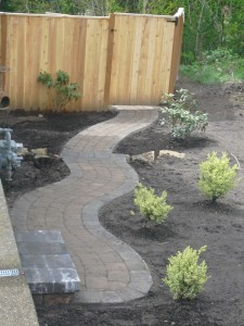 Paver Pathway Finish Product