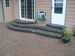 Pisa 2 steps with Patio Paver