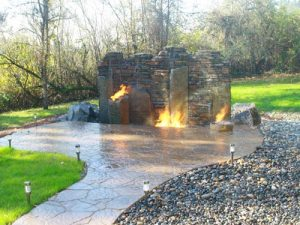 Outdoor Fire Pits and Fireplaces by Boulder Falls Landscape in Vancouver WA and Camas Washington