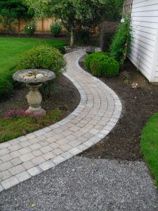 Sidewalk Pavers Installation from Boulder Falls Landscape in Vancouver WA and Camas Washington