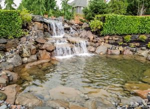 outdoor Water Feature Installation and Design in Vancouver, WA and Camas Washington Boulder Falls Landscape