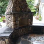Block firepit by Boulder Falls Landscaping in Vancouver WA and Portland OR.