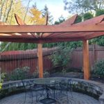 new gazebo build by Boulder Falls Landscaping in Vancouver WA and Portland OR.