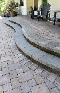 Paver Patio Design and install by Boulder Falls Landscaping in Vancouver WA and Portland OR.