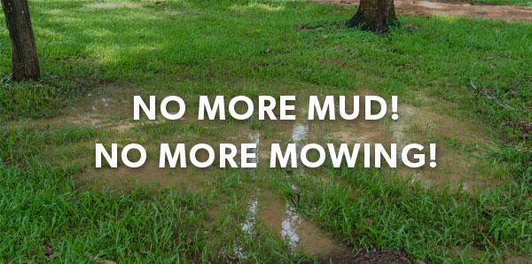 No more mud! No more mowing!